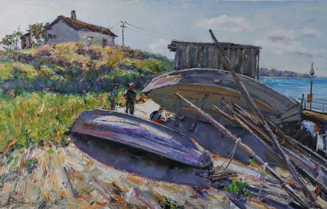 点彩与印象,乌克兰画家罗曼·康斯坦丁诺夫插图71