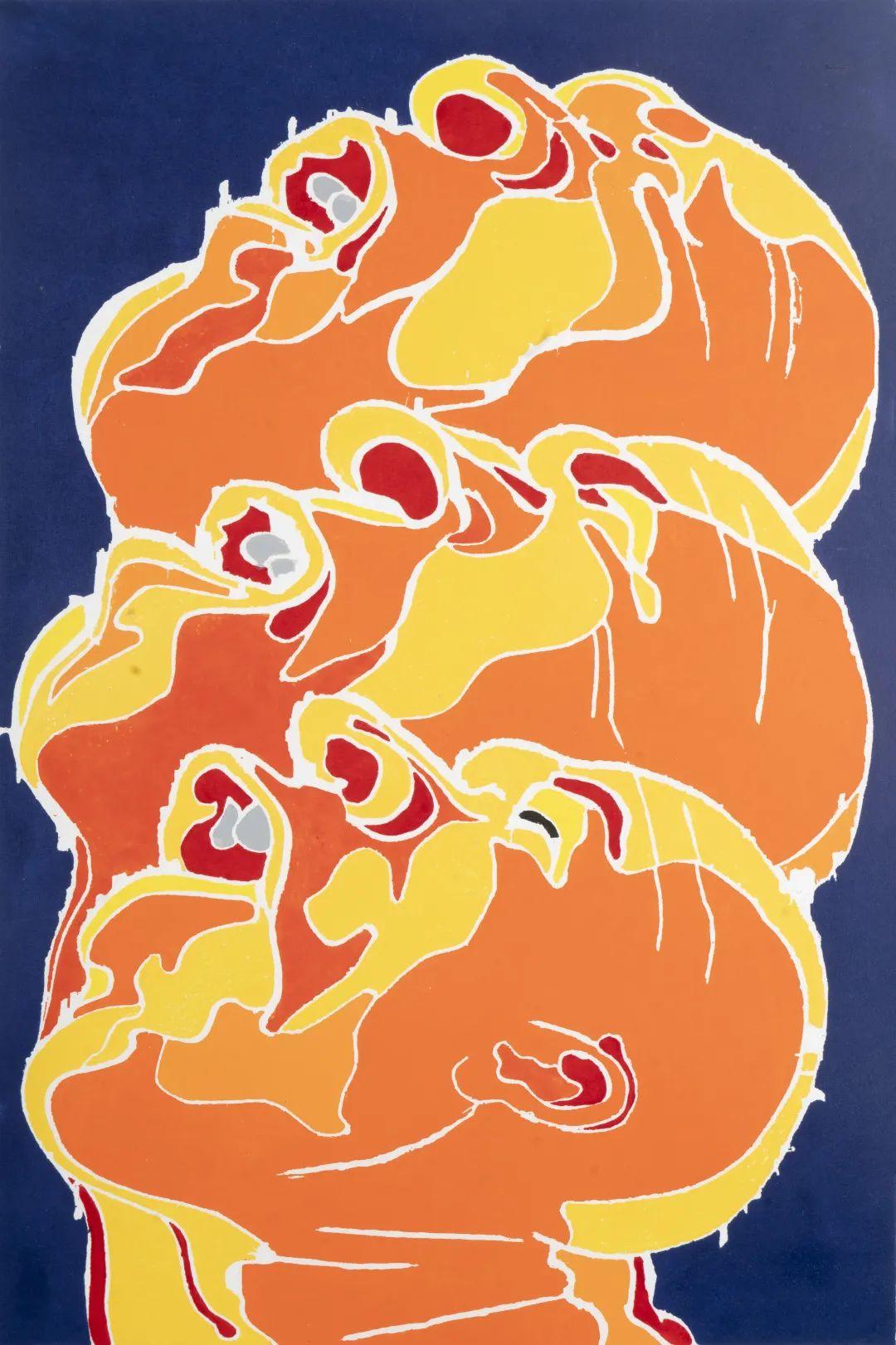 中国当代绘画艺术展作品欣赏之 方力钧插图9