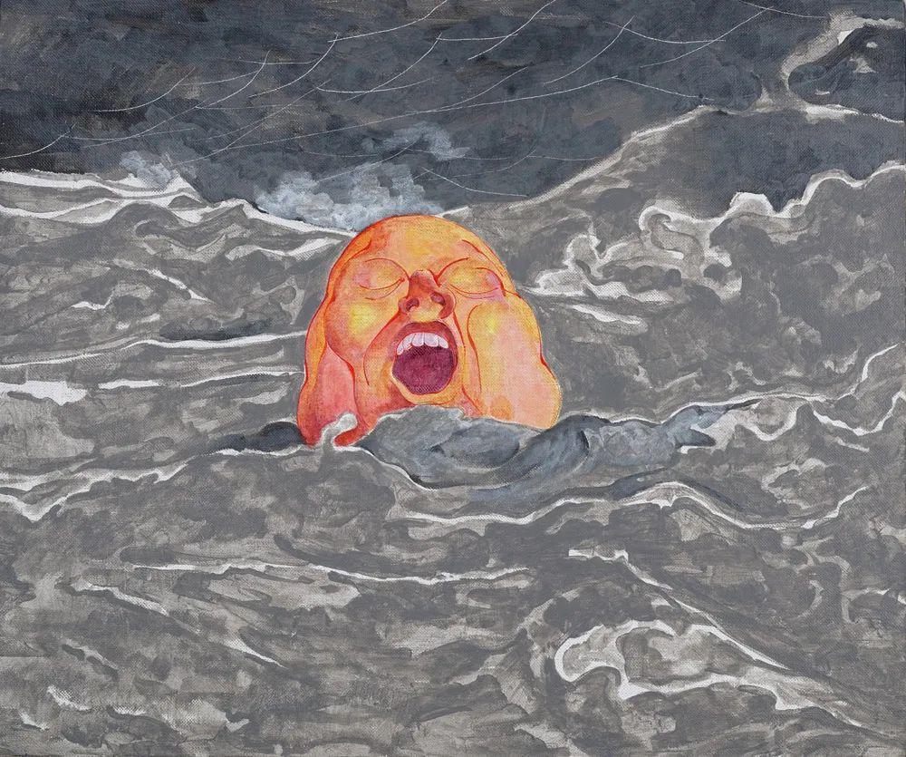 中国当代绘画艺术展作品欣赏之 方力钧插图19