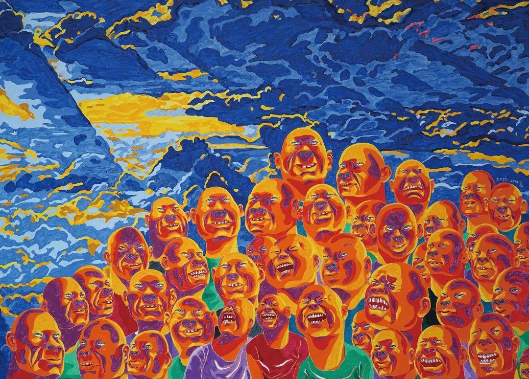中国当代绘画艺术展作品欣赏之 方力钧插图21