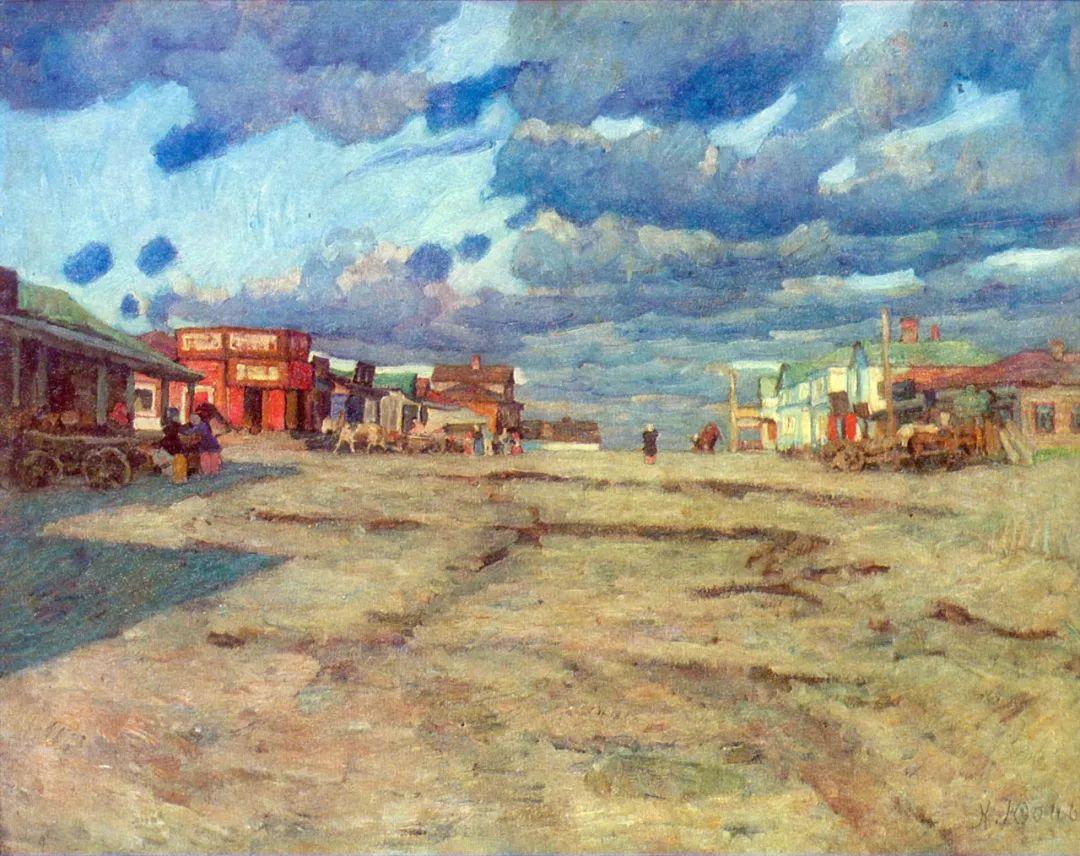 列宁勋章获得者尤恩,笔下独具特色的风景!插图42