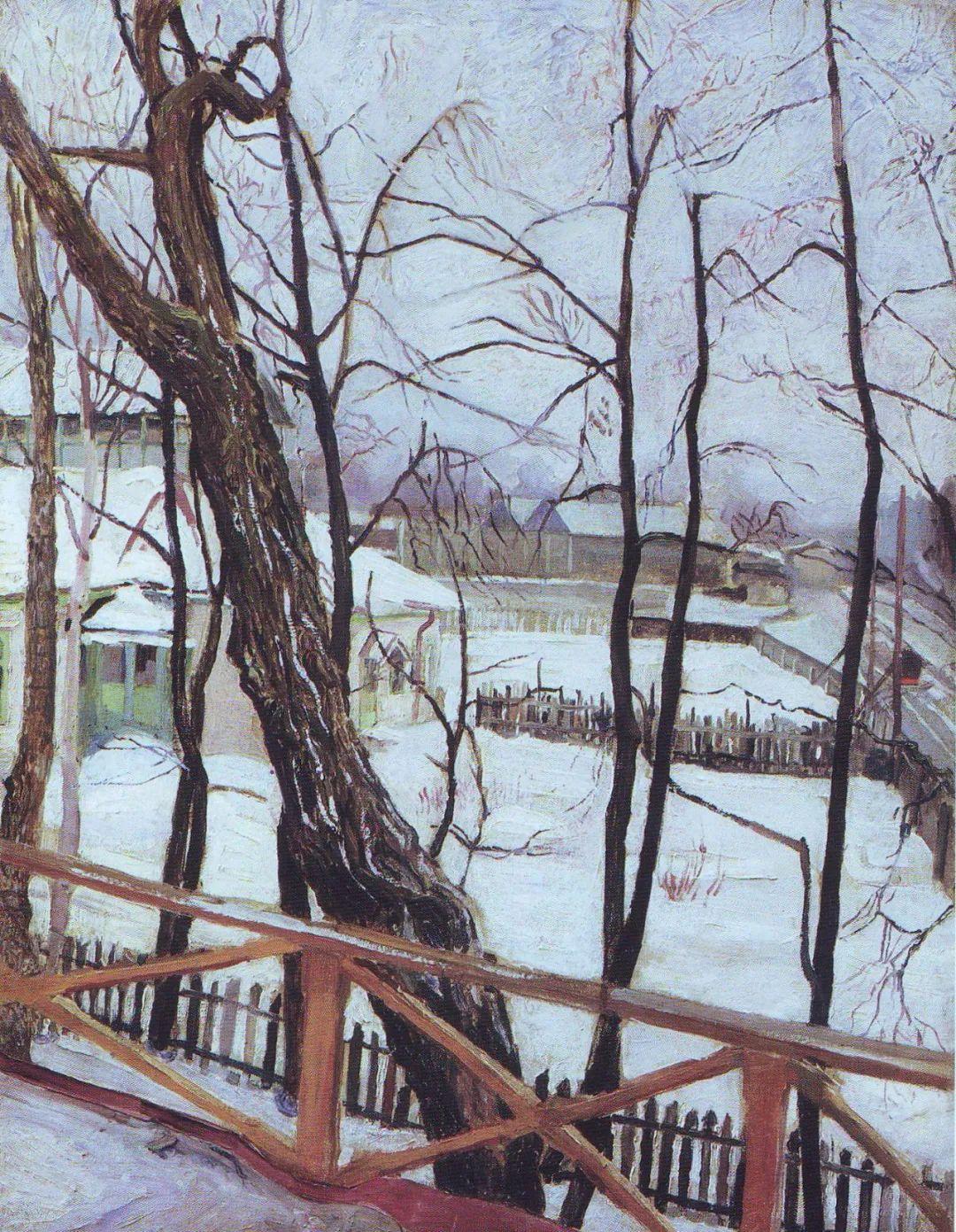 列宁勋章获得者尤恩,笔下独具特色的风景!插图50