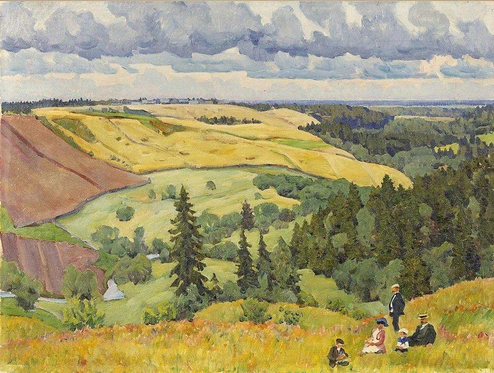列宁勋章获得者尤恩,笔下独具特色的风景!插图52