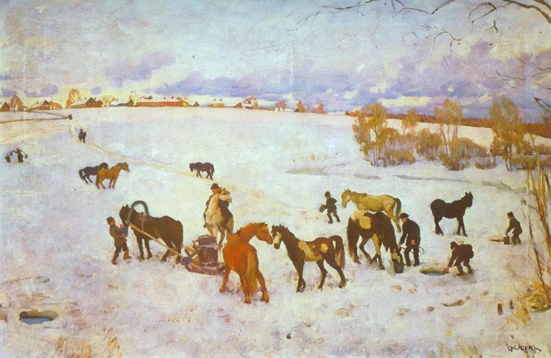列宁勋章获得者尤恩,笔下独具特色的风景!插图66
