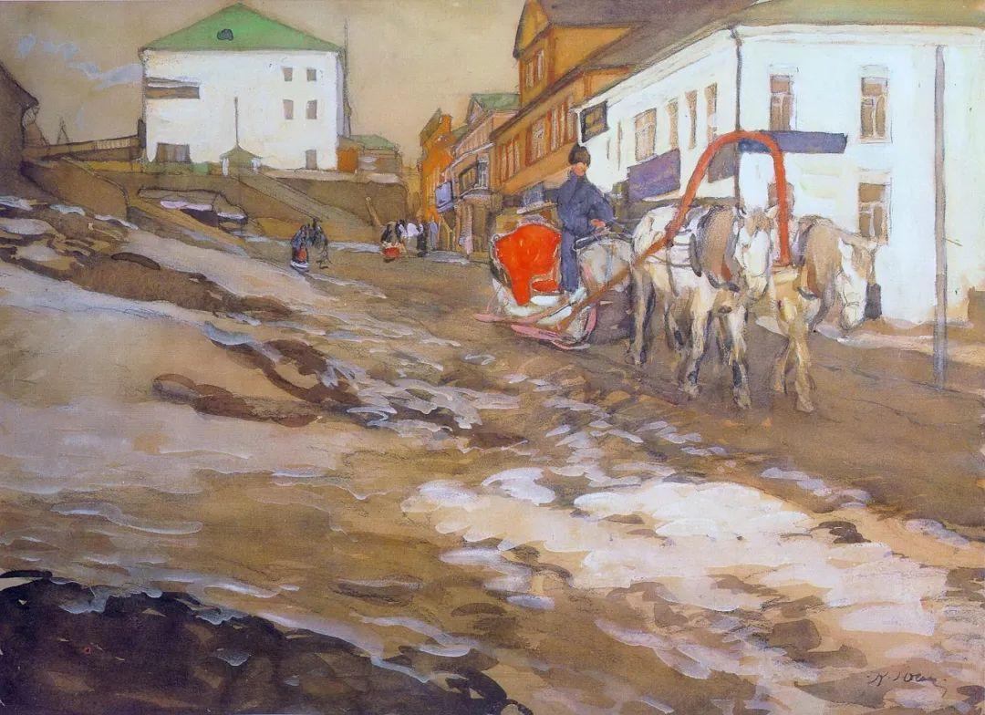 列宁勋章获得者尤恩,笔下独具特色的风景!插图88