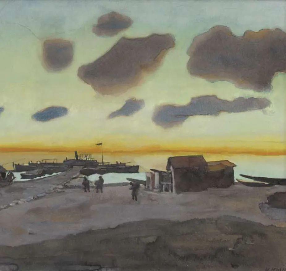 列宁勋章获得者尤恩,笔下独具特色的风景!插图128