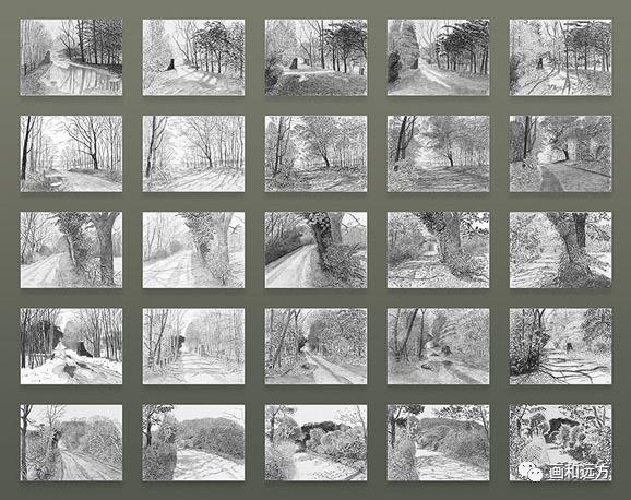 回归素描的美感——大卫·霍克尼素描风景作品插图5