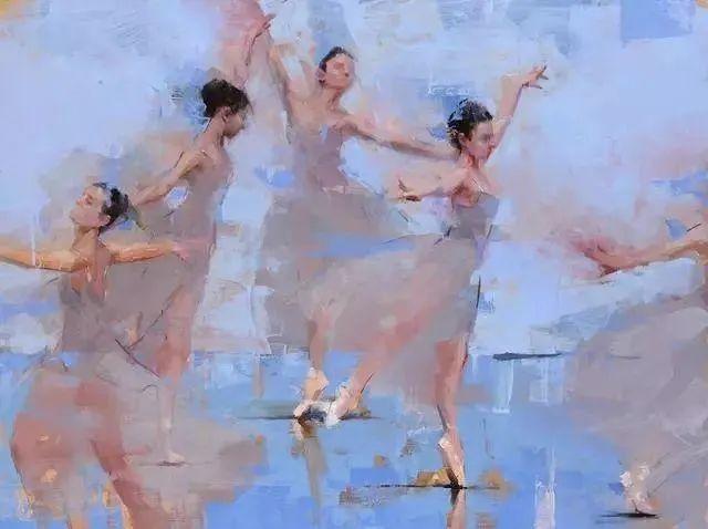 翩若惊鸿,婉若游龙,油画里那些翩翩起舞的美少女插图1