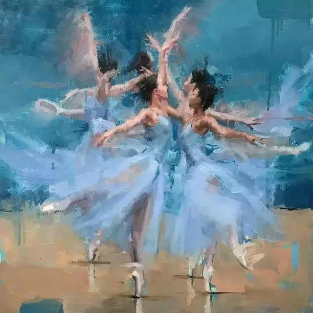 翩若惊鸿,婉若游龙,油画里那些翩翩起舞的美少女插图3