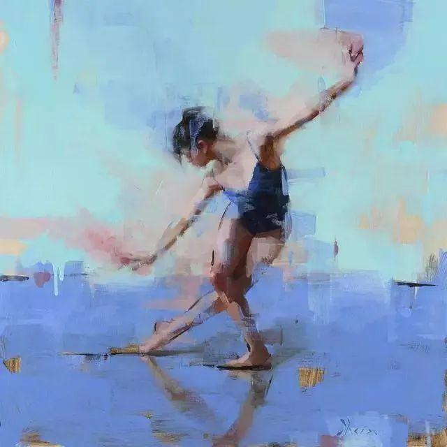 翩若惊鸿,婉若游龙,油画里那些翩翩起舞的美少女插图5