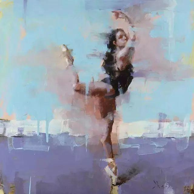 翩若惊鸿,婉若游龙,油画里那些翩翩起舞的美少女插图7