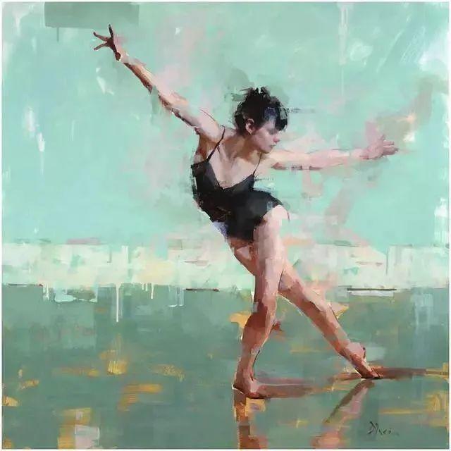 翩若惊鸿,婉若游龙,油画里那些翩翩起舞的美少女插图11