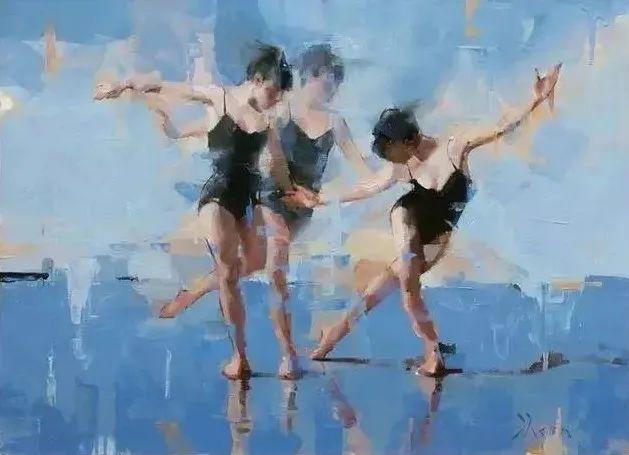 翩若惊鸿,婉若游龙,油画里那些翩翩起舞的美少女插图14