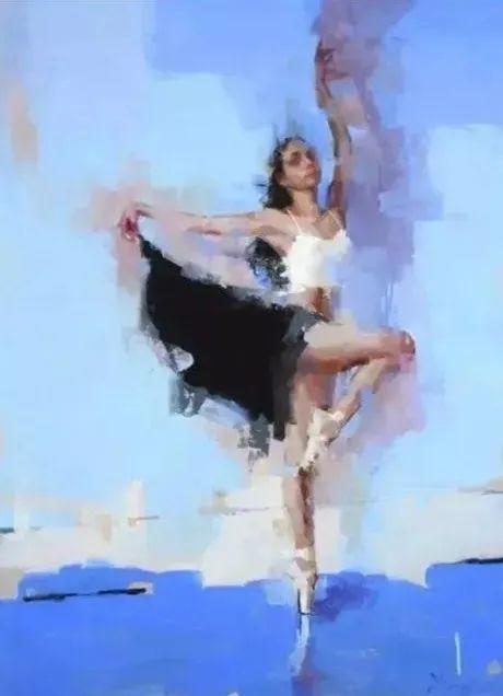 翩若惊鸿,婉若游龙,油画里那些翩翩起舞的美少女插图16