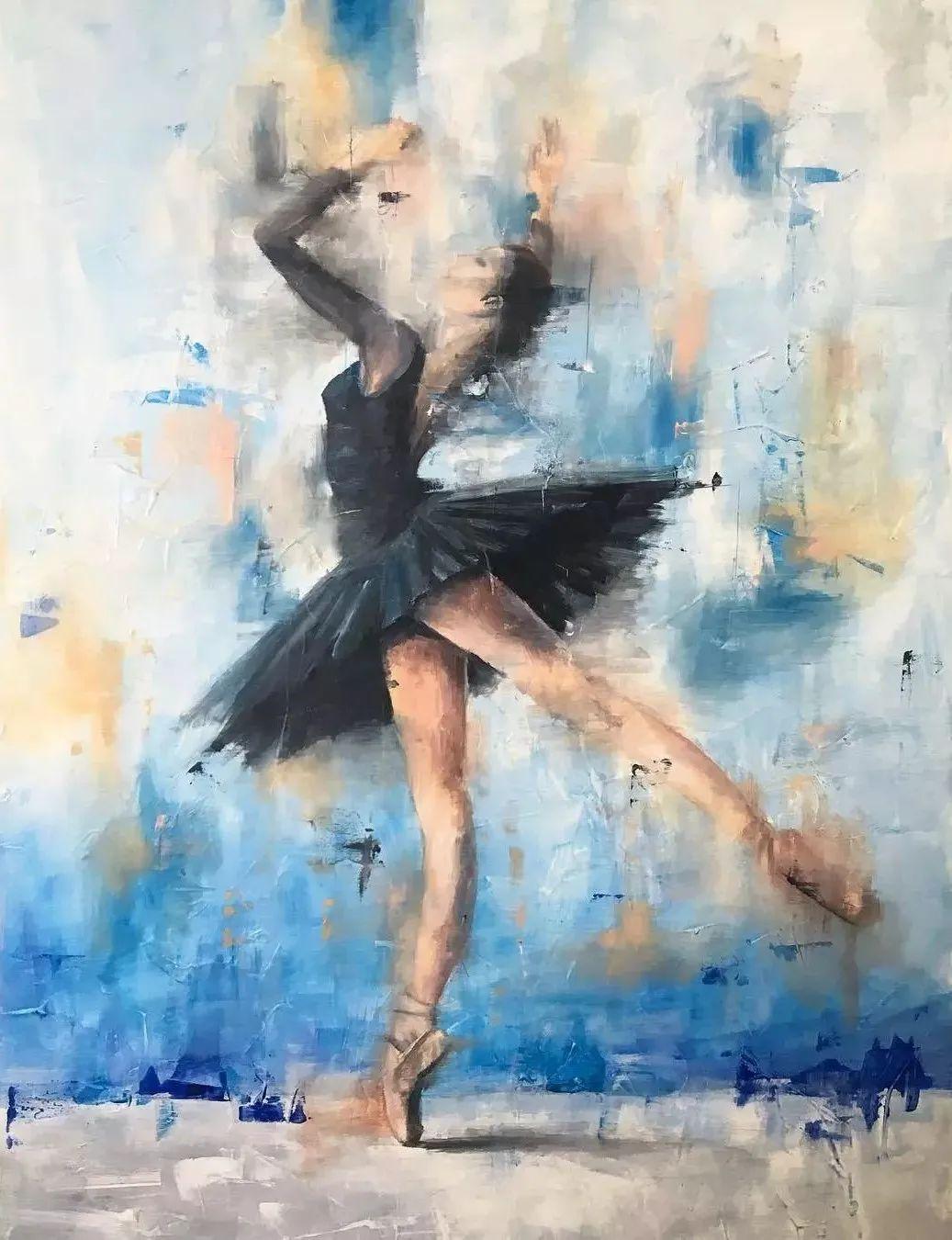 翩若惊鸿,婉若游龙,油画里那些翩翩起舞的美少女插图19