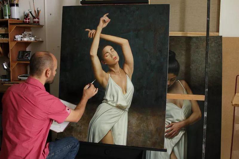 他画的绝色写实女人裸体画,看完面红耳赤!引网友直呼:我可以!插图45