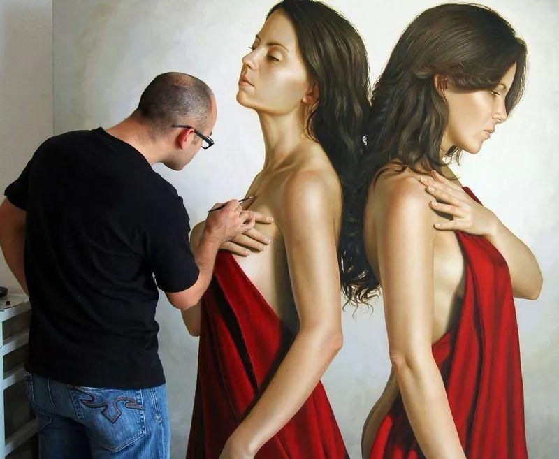 他画的绝色写实女人裸体画,看完面红耳赤!引网友直呼:我可以!插图73