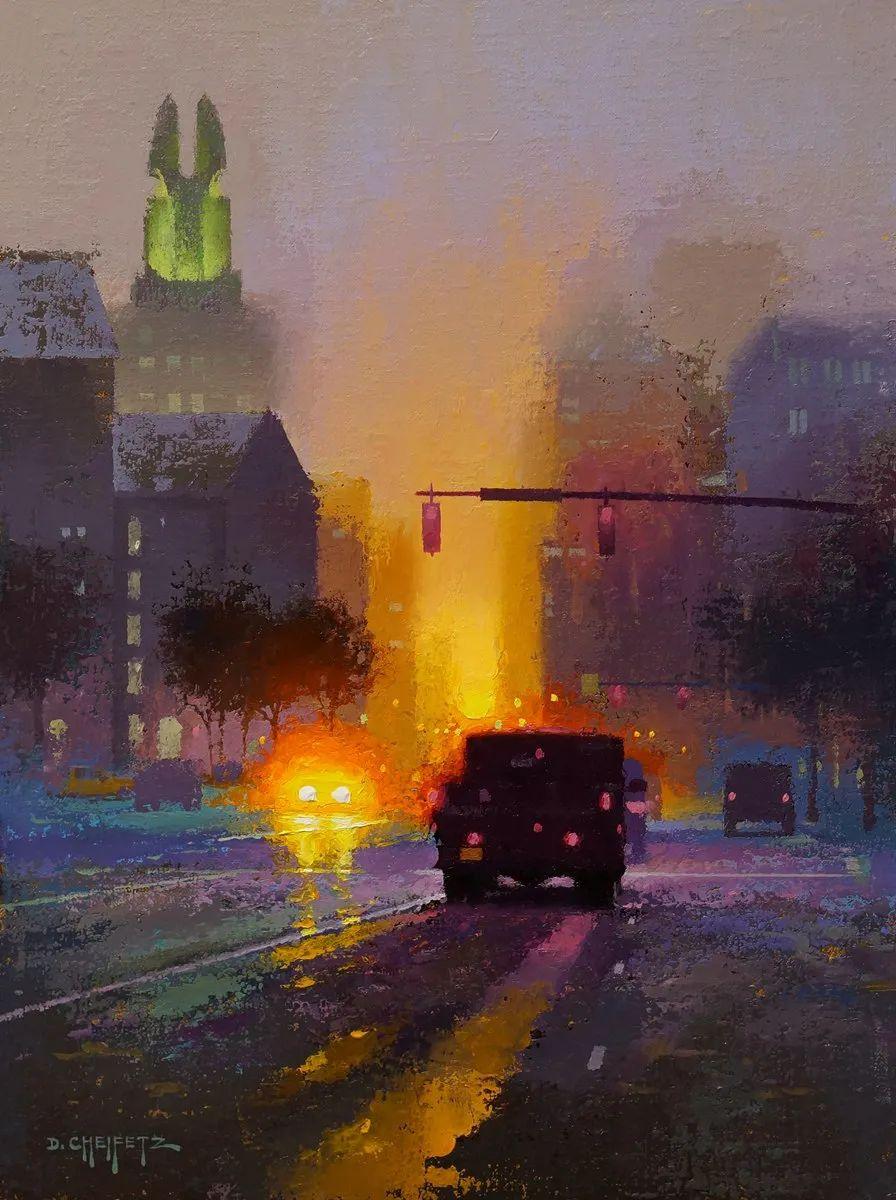 富有表现力的笔触和光感,大卫·切菲兹作品二插图3