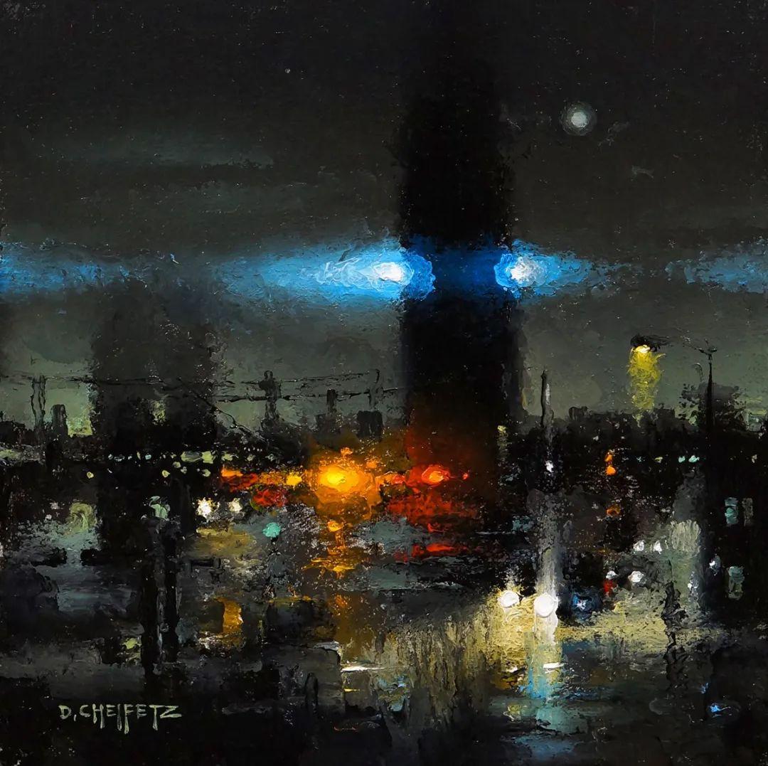 富有表现力的笔触和光感,大卫·切菲兹作品二插图11