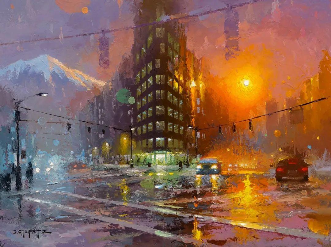 富有表现力的笔触和光感,大卫·切菲兹作品二插图13
