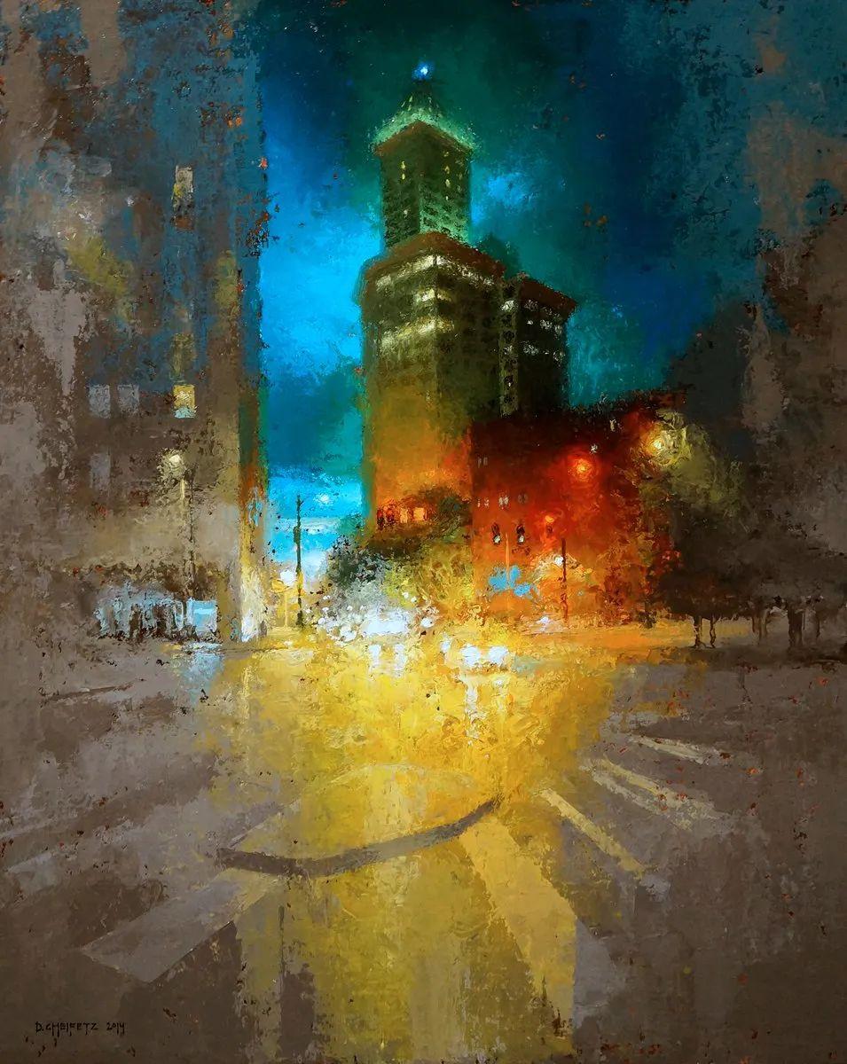 富有表现力的笔触和光感,大卫·切菲兹作品二插图17