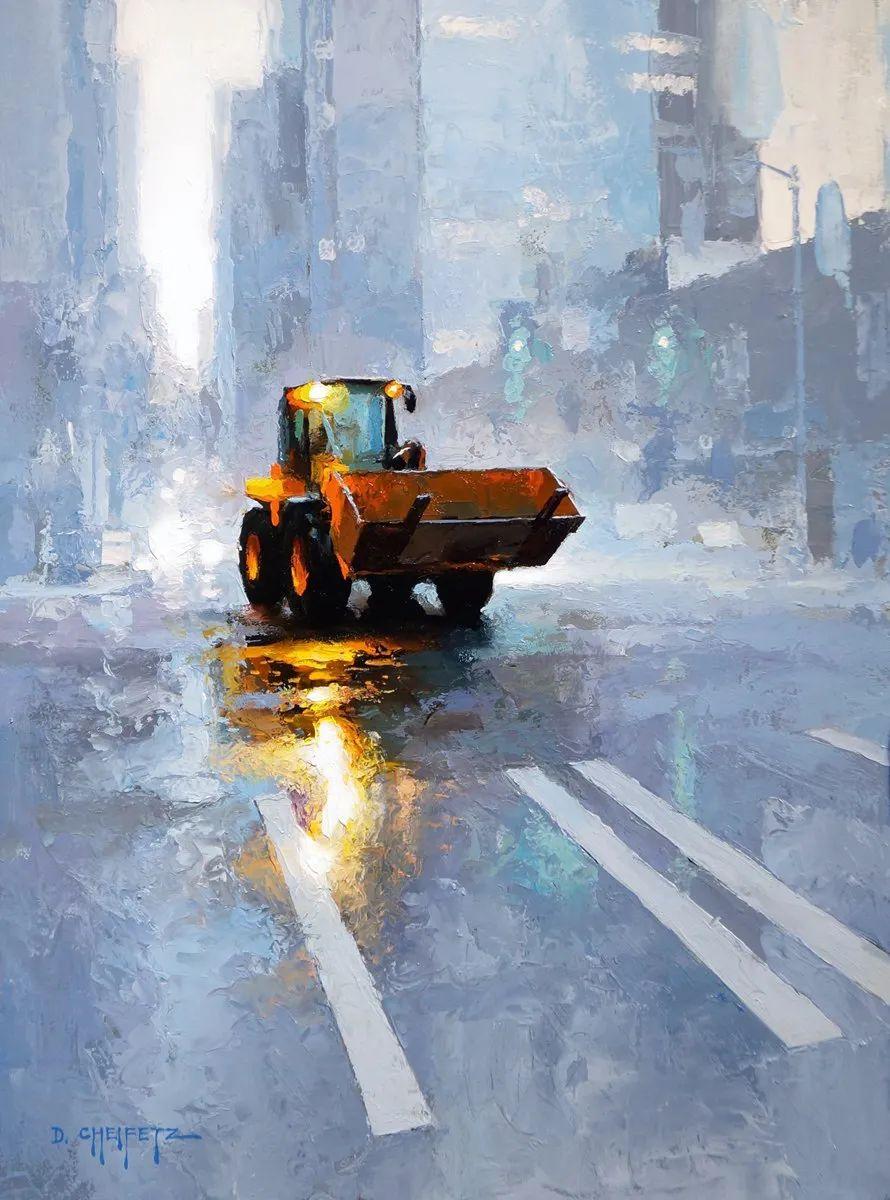 富有表现力的笔触和光感,大卫·切菲兹作品二插图21