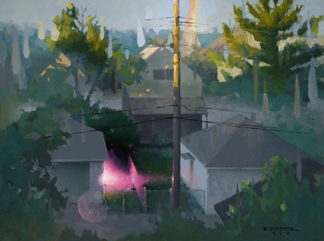 富有表现力的笔触和光感,大卫·切菲兹作品二插图29