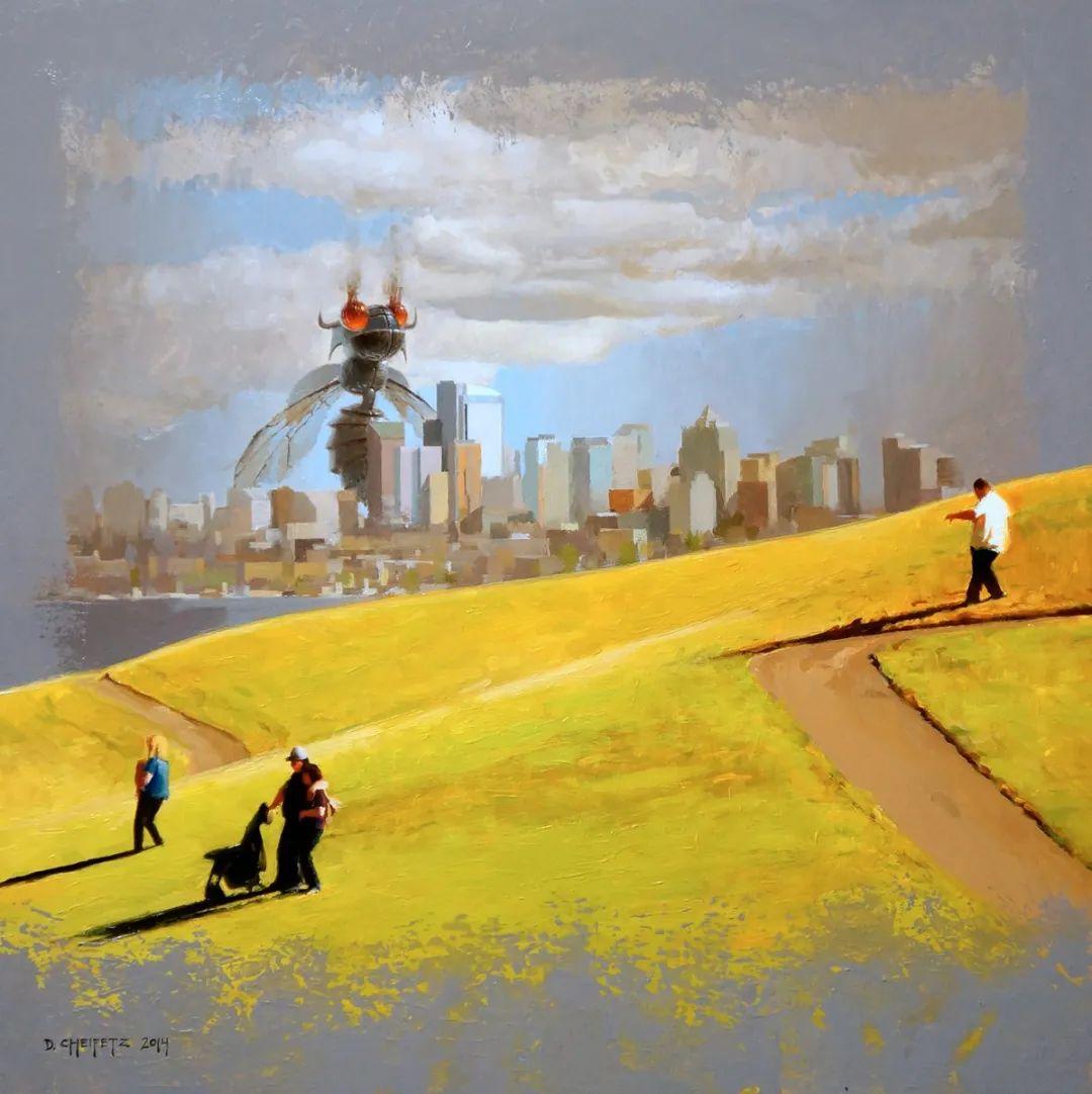 富有表现力的笔触和光感,大卫·切菲兹作品二插图33