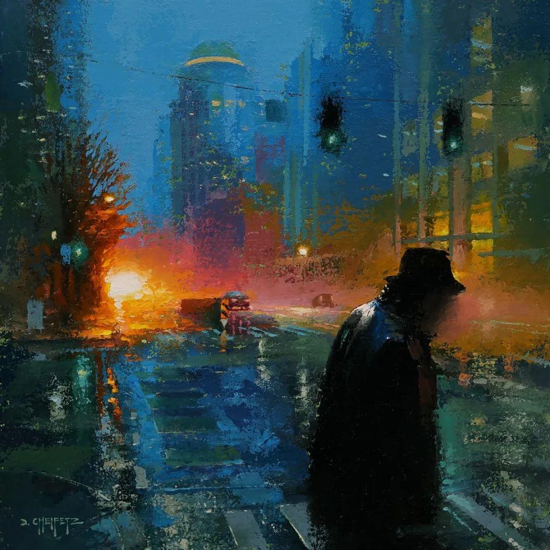 富有表现力的笔触和光感,大卫·切菲兹作品二插图39