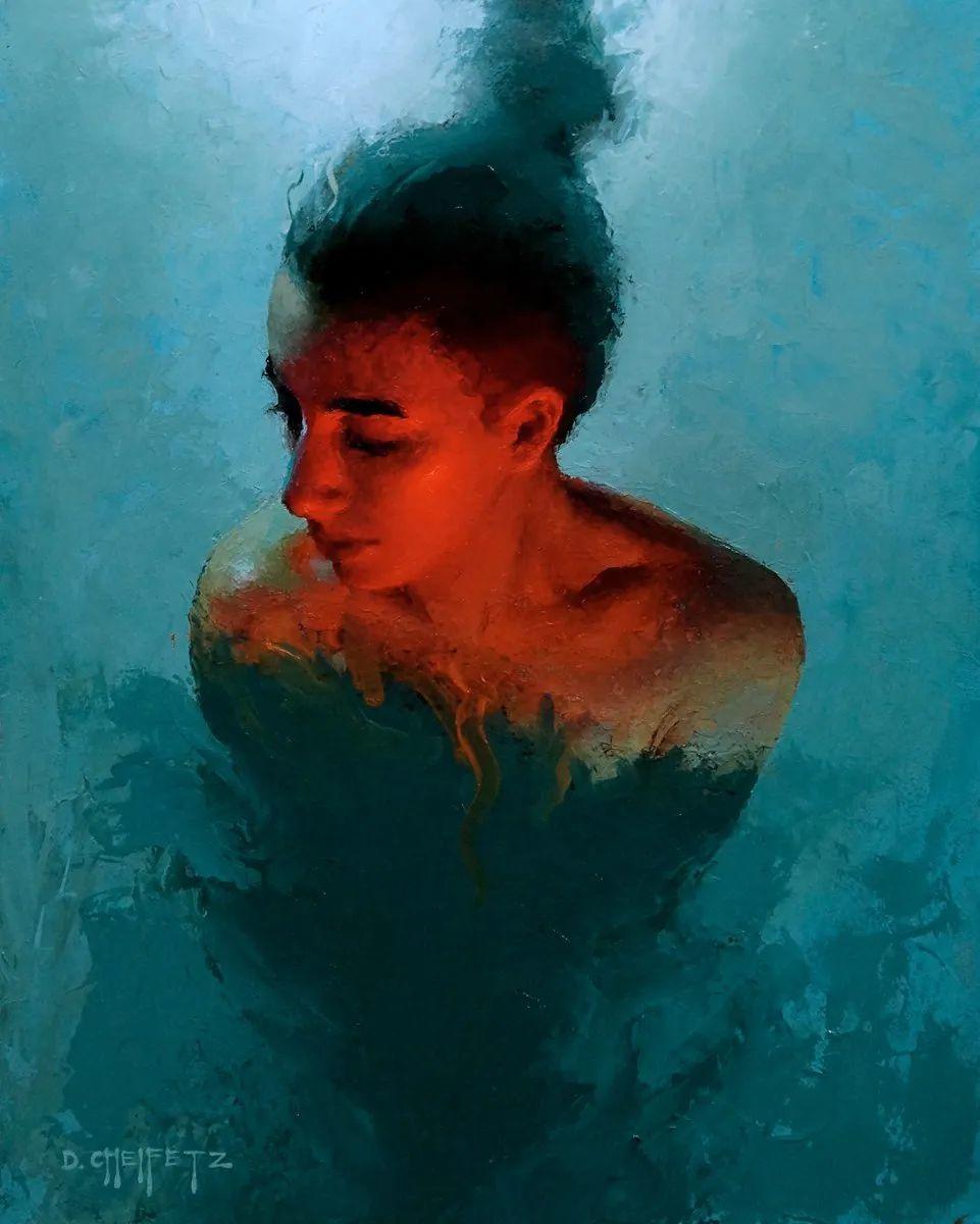富有表现力的笔触和光感,大卫·切菲兹作品二插图53