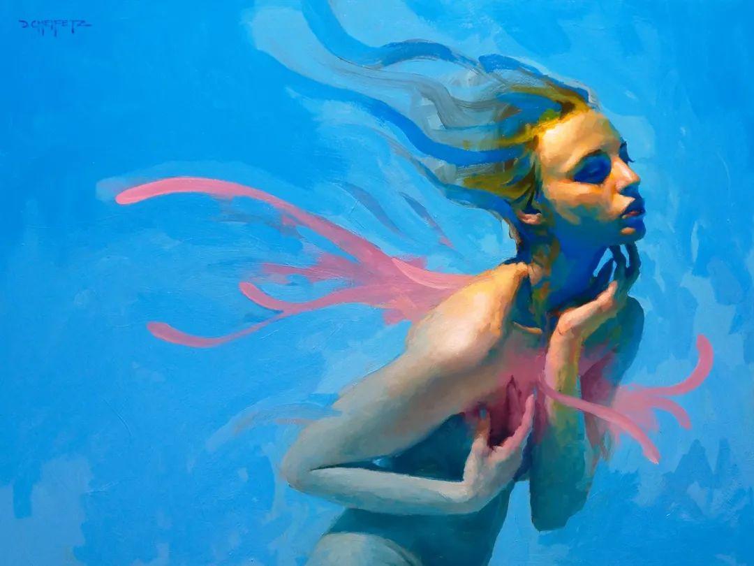 富有表现力的笔触和光感,大卫·切菲兹作品二插图55