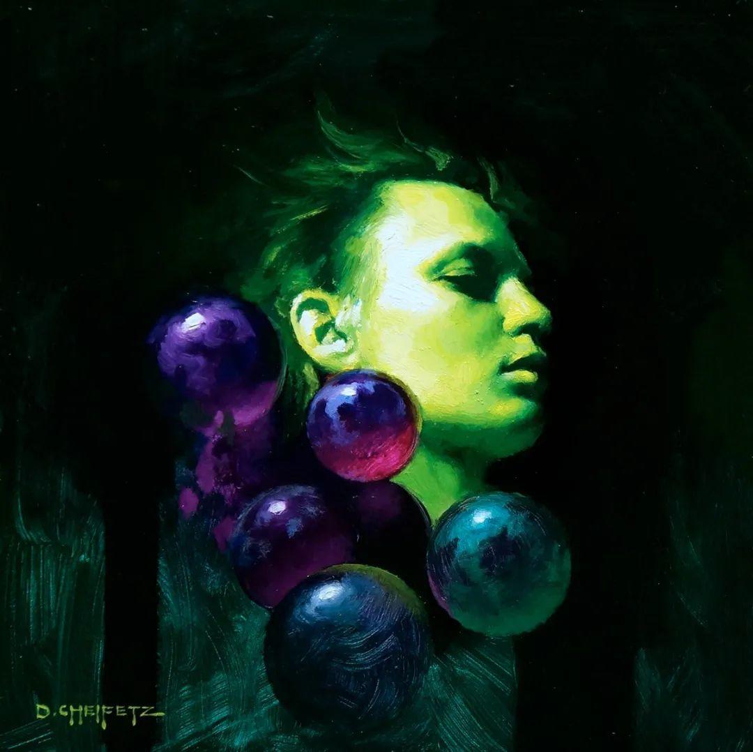 富有表现力的笔触和光感,大卫·切菲兹作品二插图67