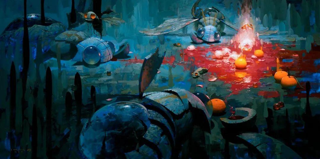 富有表现力的笔触和光感,大卫·切菲兹作品二插图87