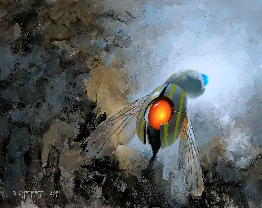 富有表现力的笔触和光感,大卫·切菲兹作品二插图91
