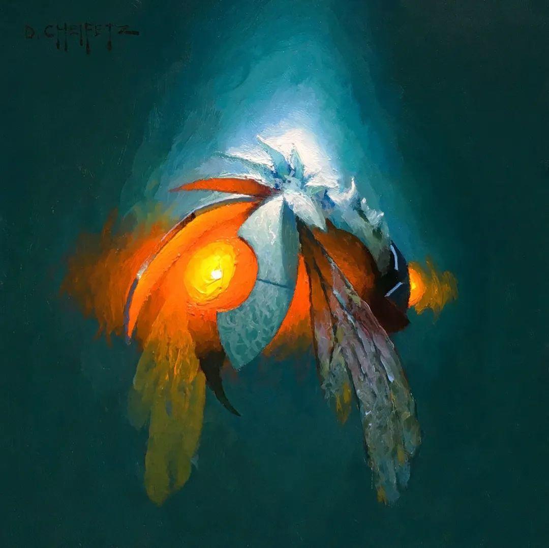 富有表现力的笔触和光感,大卫·切菲兹作品二插图95