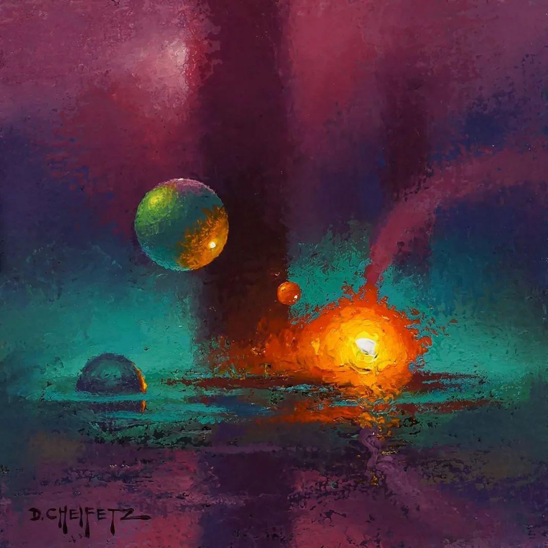 富有表现力的笔触和光感,大卫·切菲兹作品二插图121