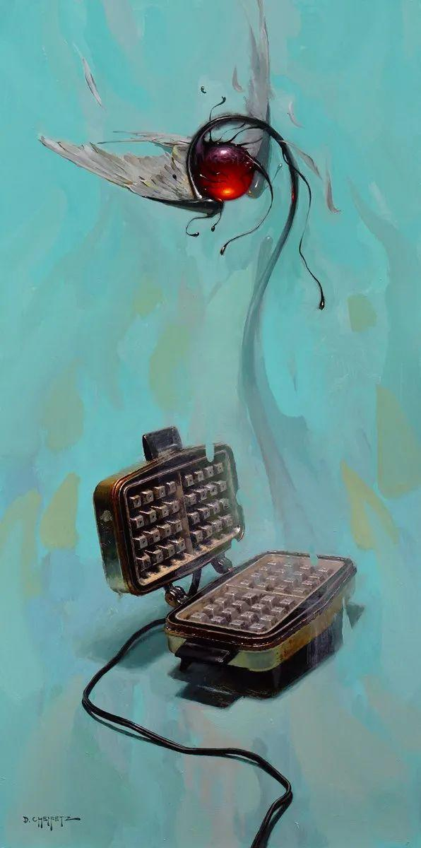 富有表现力的笔触和光感,大卫·切菲兹作品二插图123