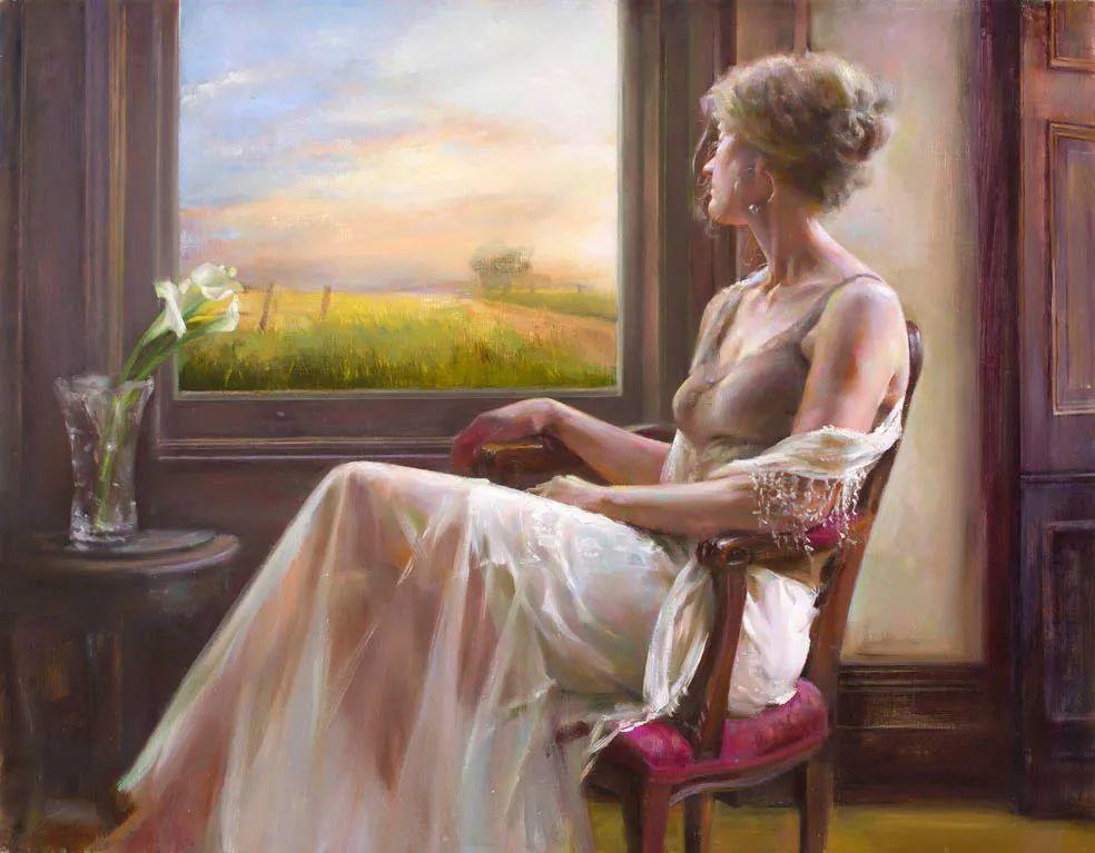 她笔下的女人,韵味十足,美美美!插图37