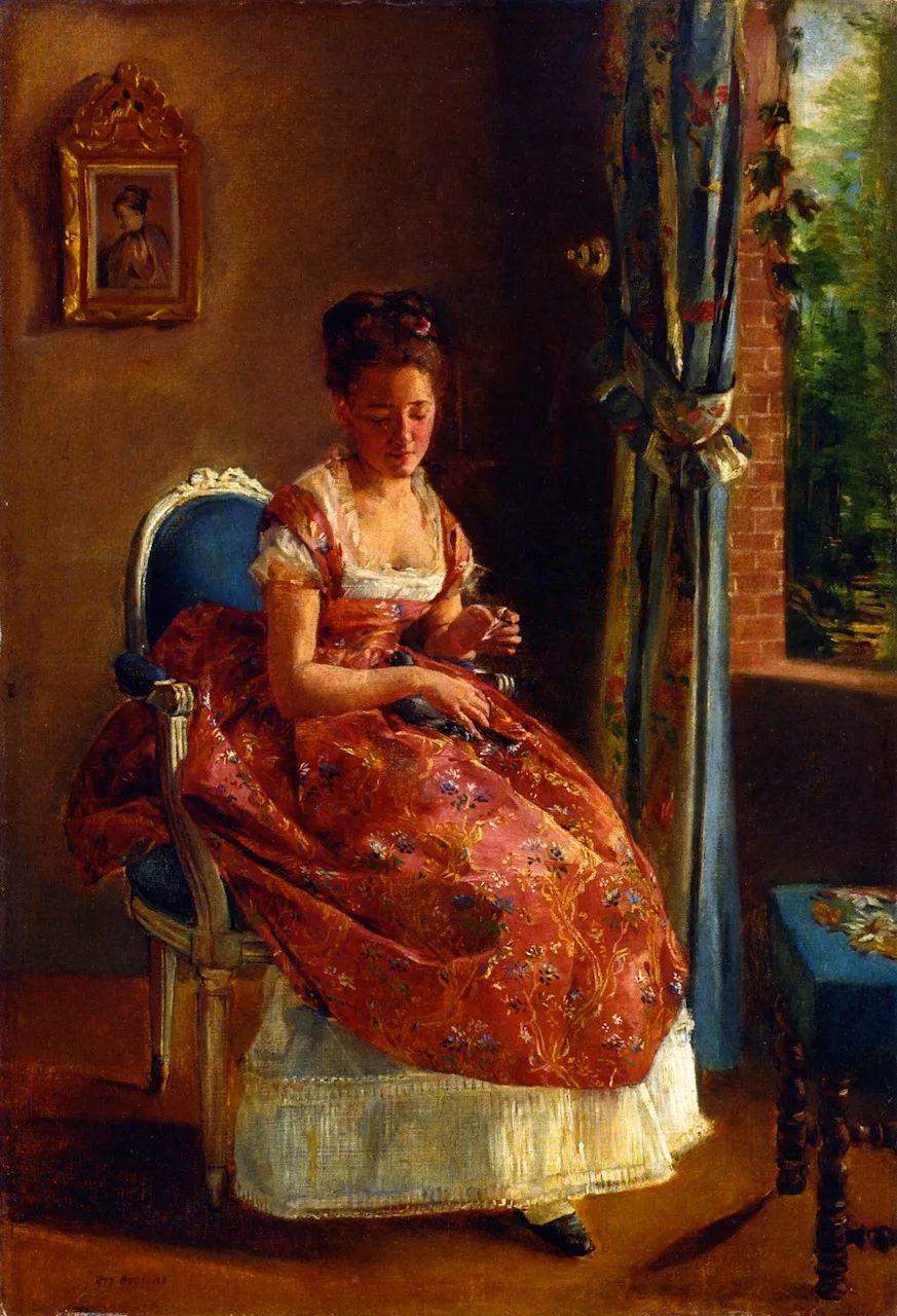 伊娃·冈萨雷斯,19世纪法国印象派女画家插图15