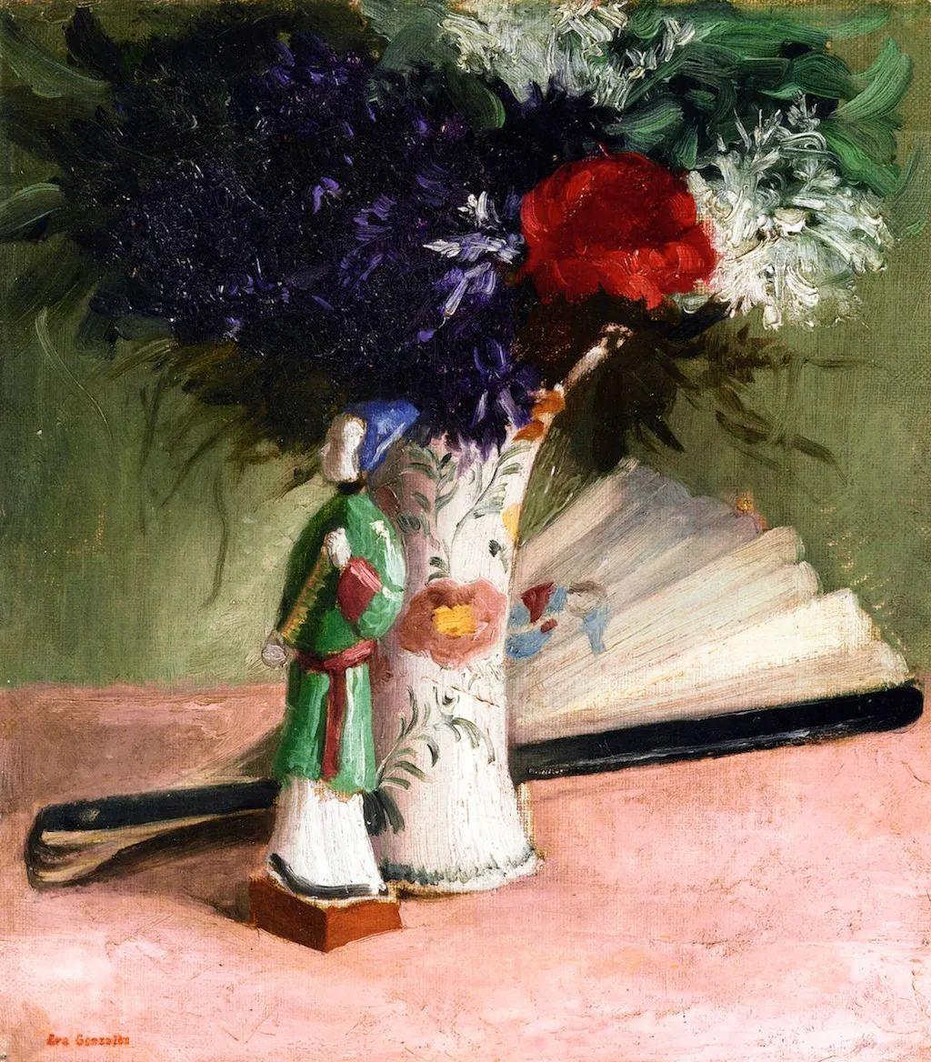 伊娃·冈萨雷斯,19世纪法国印象派女画家插图25