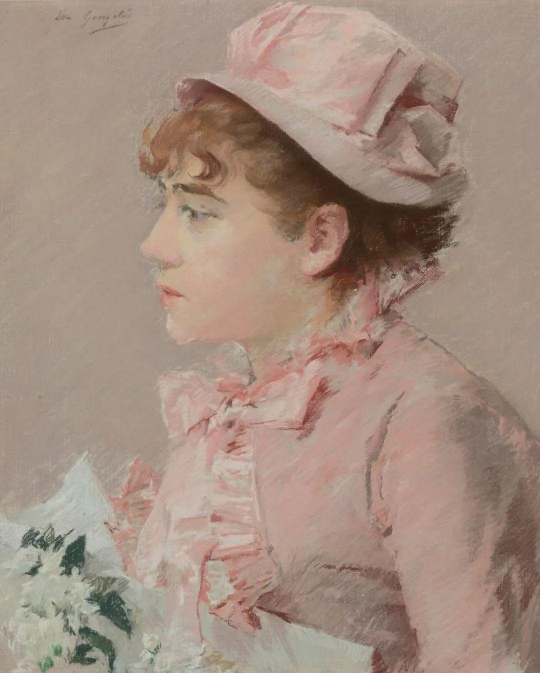 伊娃·冈萨雷斯,19世纪法国印象派女画家插图27