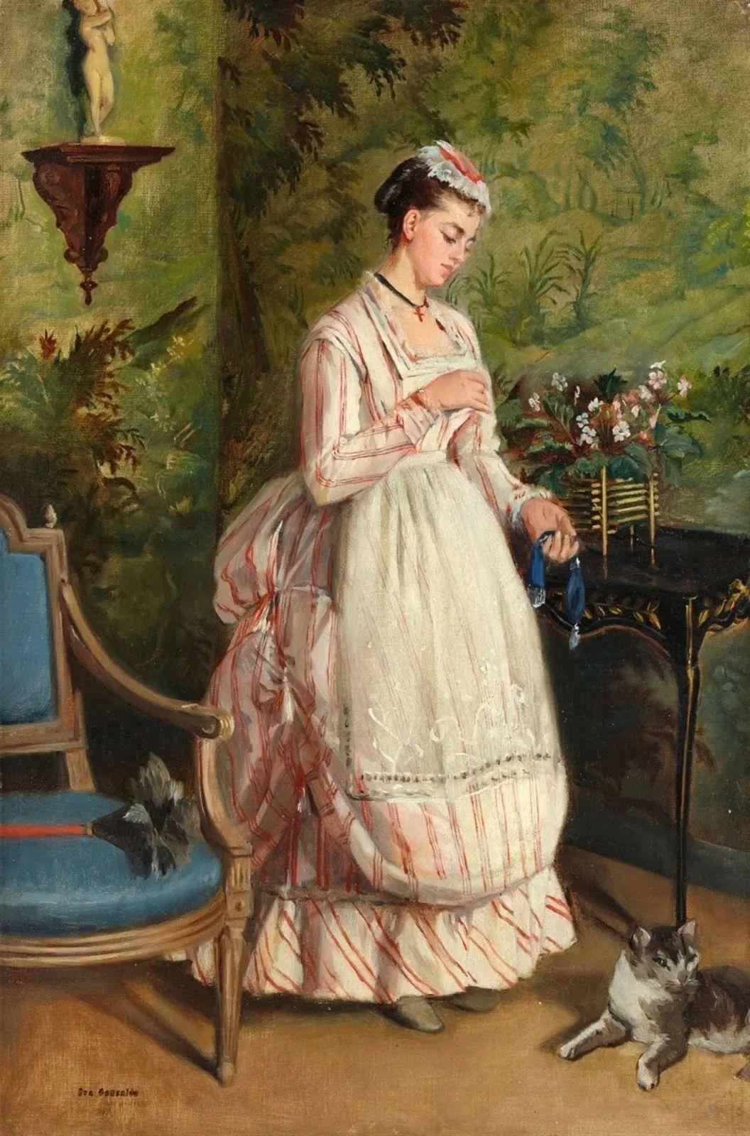 伊娃·冈萨雷斯,19世纪法国印象派女画家插图29