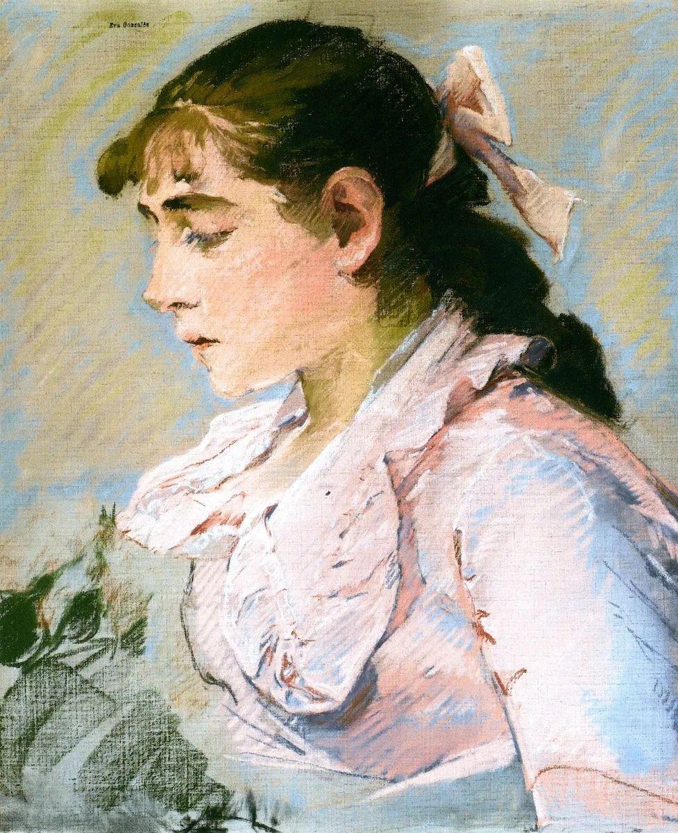 伊娃·冈萨雷斯,19世纪法国印象派女画家插图43