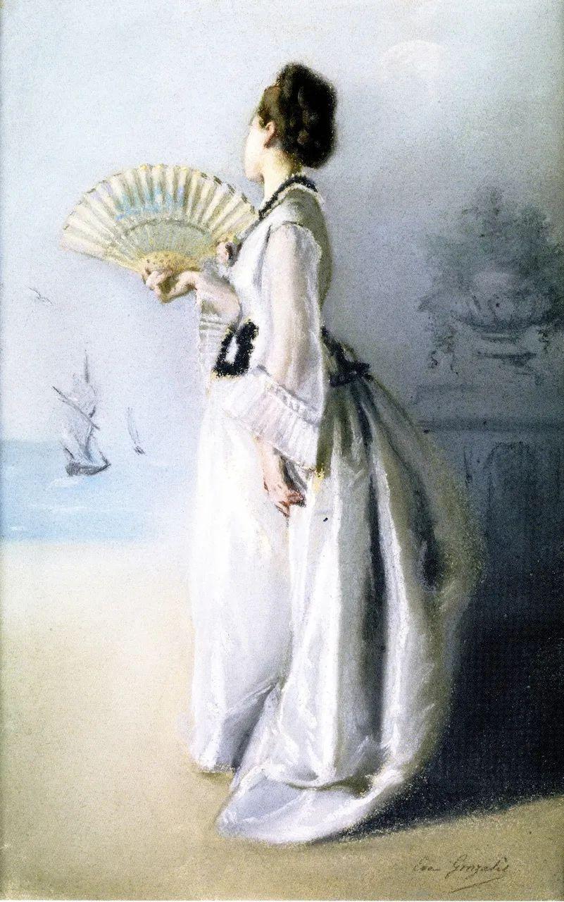 伊娃·冈萨雷斯,19世纪法国印象派女画家插图49