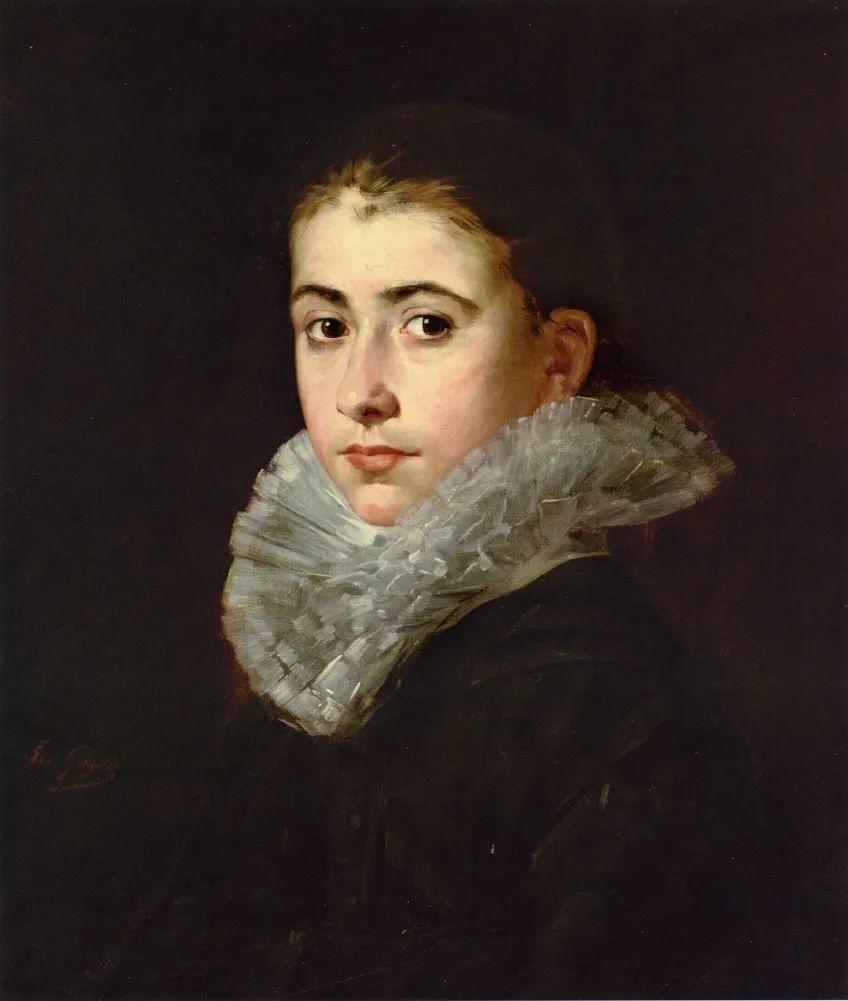 伊娃·冈萨雷斯,19世纪法国印象派女画家插图65