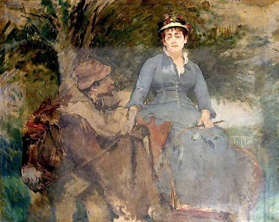 伊娃·冈萨雷斯,19世纪法国印象派女画家插图73