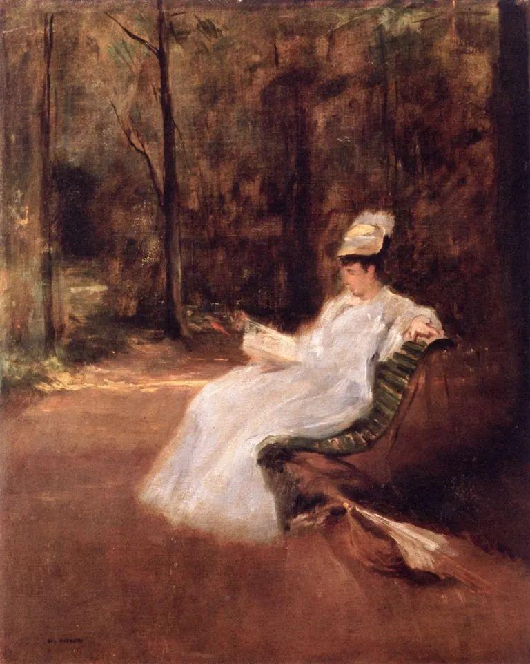 伊娃·冈萨雷斯,19世纪法国印象派女画家插图75