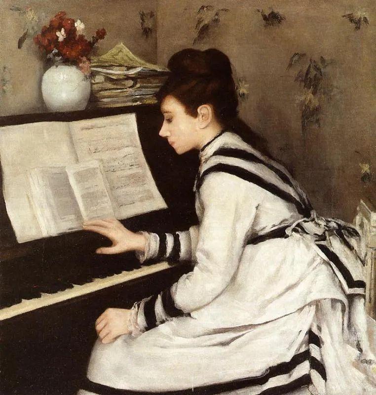 伊娃·冈萨雷斯,19世纪法国印象派女画家插图81