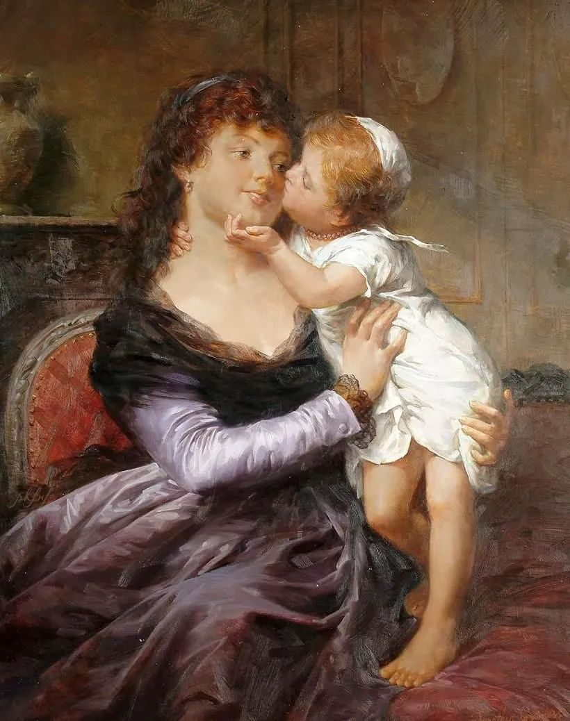 母亲节:世界名画中最伟大、最温情的爱!插图113