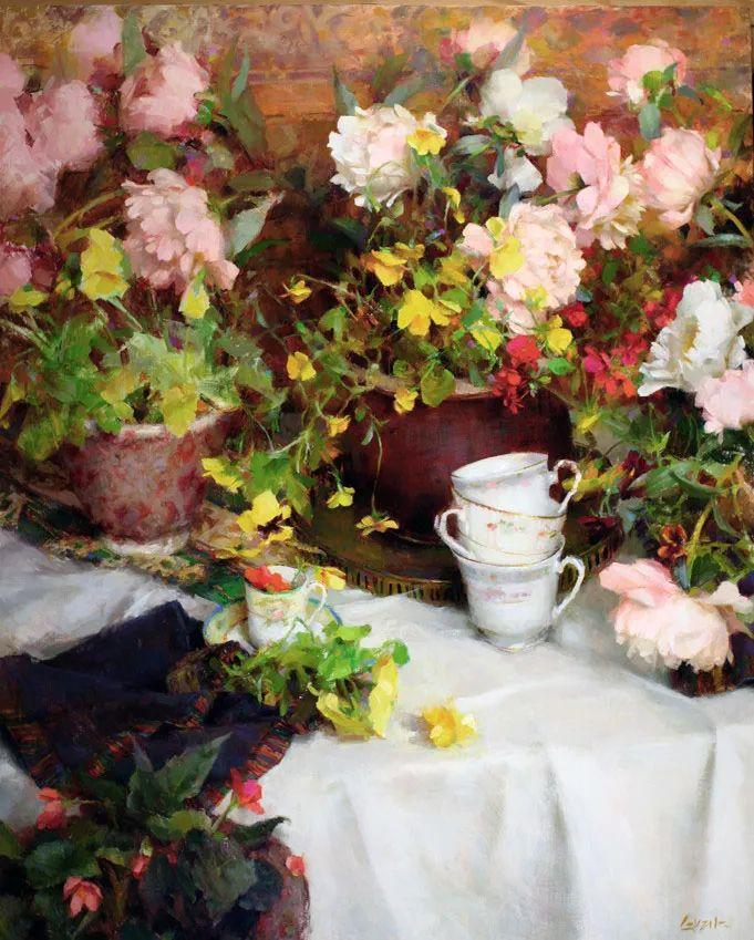 南希·古兹克笔下的花卉静物油画,爱了!插图3